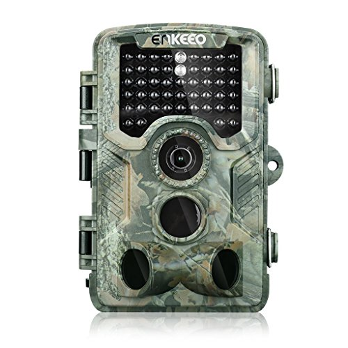 (ENKEEO 16MP Trail Game Camera 1080P HD Hunting Camera 47pcs 850nm IR Night Vision IP56 Water Resistant with 0.2s Trigger Time 2.4