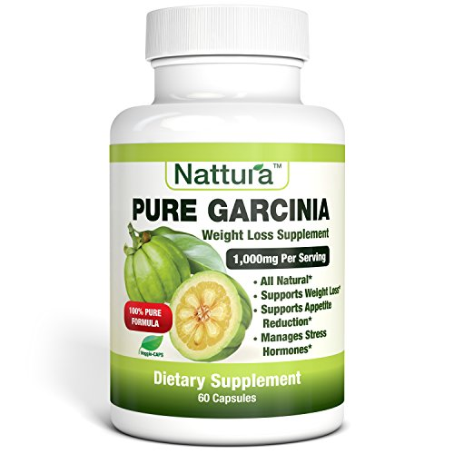 PURE GARCINIA – All Natural, 100% Pure Garcinia Cambogia Formula, 1000mg Garcinia Extract Per Serving – 60 Capsules