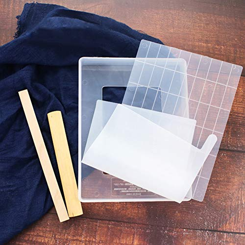 - Taykoo 5pc Nougat Tool Set,Transparent Lattice Nougat Mold DIY Shaqima Tray Mold Set Nougat Sugar Tray Making Tools