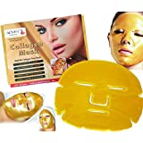 3X Premium Gold Mask Gold Bio Collagen Face Mask Pack of 3 Face Masks Skin Care Mask w/ Hyaluronic Acid + Vitamins Face Treatment Powerful Anti-Aging, Moisturizing Mask