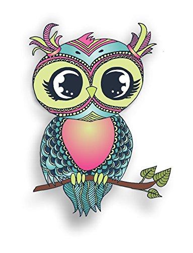 Vinyl Junkie Graphics Pastel Owl Sticker/Decal
