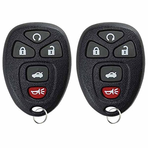KeylessOption Keyless Entry Remote Control Car Key Fob Replacement 15912860 (Pack of - Impala Key 2010