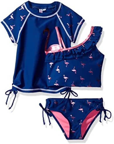 LiMiTeD Too Girls' Colored Foil Tankini and Graphic Guard