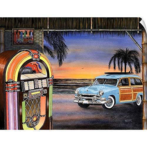 CANVAS ON DEMAND Beach Music Wall Peel Art Print, 36
