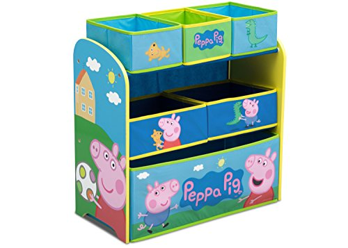 Delta Children Multi-Bin Toy Organizer, Peppa -