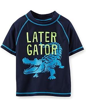 Carter's Baby Boys' Later Gator Rashguard - Navy - 24 Months