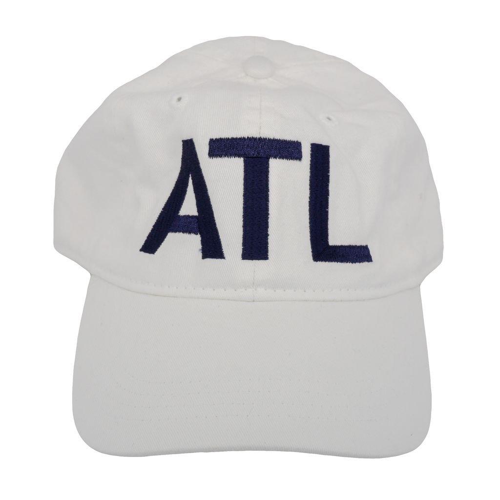 53b7168226d ATL Atlanta Classic Airport Code Hat White at Amazon Men s Clothing store