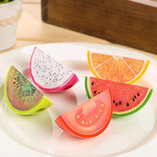 Slendima 3 Pcs Kawaii Fruit Shape Pencil Sharpener Students School Stationery Creative Gift - Random Color