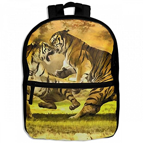 Tiger Wild Wrestling Childrens School Backpacks Casual Daypack Travel Outdoor For Boys And Girls by Thoreau Holmes