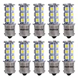 ENDPAGE 10x 1156 BA15S 7506 1003 1141 18-SMD White Car LED Bulbs Replacement for Interior Lights Tail Lights Brake Lamp Backup Reverse Lights Fit RV Camper Van etc.