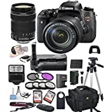 Canon EOS Rebel T6S Digital SLR Camera w/ EF-S 18-135mm STM Bundle includes Camera, Lenses, Filters, Bag, Memory Cards, Remote, Power Grip, Tripod ,and More - International Version