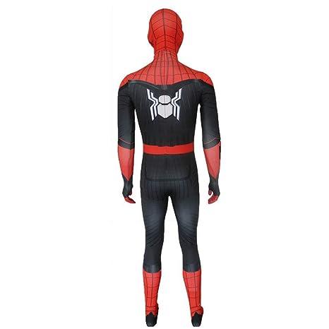 RNGNBKLS Disfraz Negro De Spiderman Adulto Niño Halloween ...