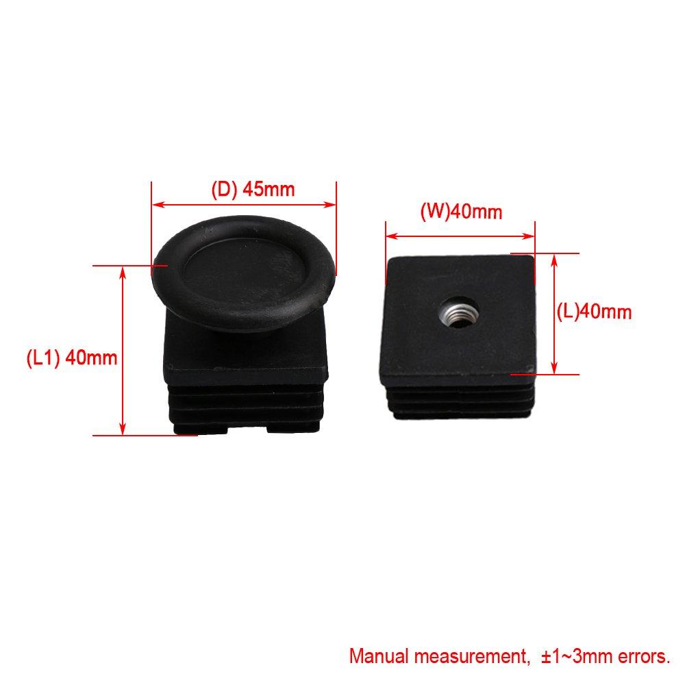 BQLZR - Tapones de rosca M8 de 40 mm x 40 mm de plástico ...