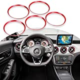Red Ring Cover Trims Air Vent Outlet For 2013-18 Mercedes Benz CLA GLA Class For Sale