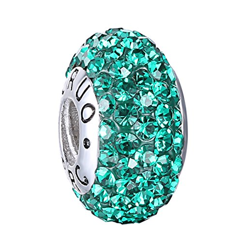 Sterling Crystal Birthstone Threaded Bracelets