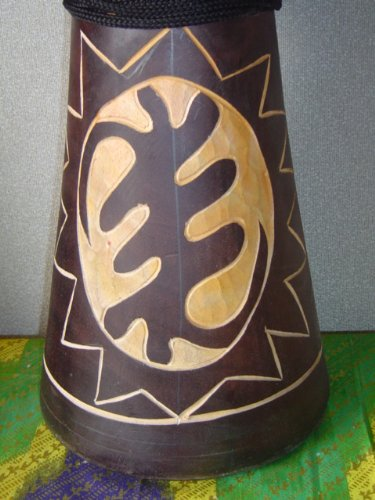 20'' X 10-11'' Deep Carved Djembe Bongo Drum GYE NYAME (God First) with Free Cover, Model # 50M12