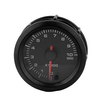 """12V Voiture Automative tachymètre 7 Couleurs de rétroéclairage LED 2"""" 52 mm Ronde pointeur Univ.s RPM Regard High-tech"""