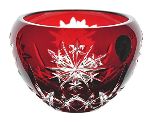 Waterford Ruby Red Snow Crystals Candle Votive (Ruby Red Candlestick)