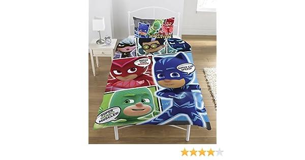 Amazon.com: Disney Pj Masks Comic Reversible Panel Single Bed Duvet Quilt Cover Set n: Home & Kitchen
