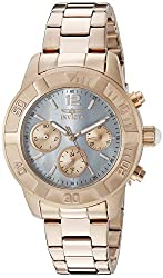 Invicta Women's 21611 Rose Gold-Tone Stainless Steel Bracelet Watch