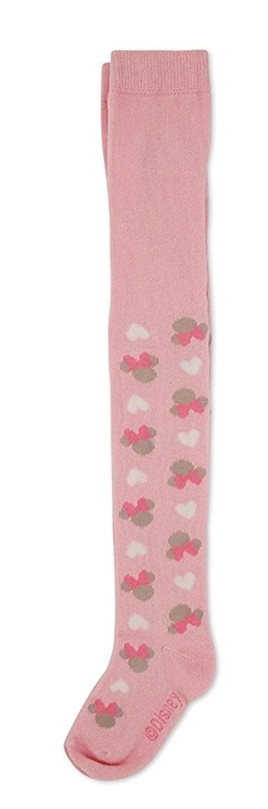 Disney Baby Girls Minnie Mouse Cute and Fun Lovable Hearts Comfy Tights Sizes 0-24 months