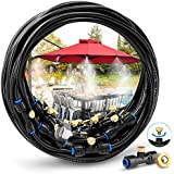 HOMENOTE Misting Cooling System 59FT (18M) Misting Line + 26 Brass Mist Nozzles + a Brass Adapter(3/4
