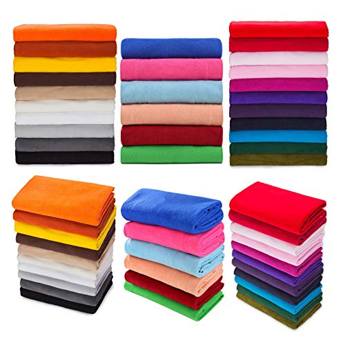 Polar Fleece Fabric, Quality Material, International Approved Test Report for Anti Pill Finish. 27 Fashion Colours, Medium 320Grams Weight. Beautiful Plush Pile for Garments, Home décor and Crafts