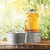 Small Round Stand/Bucket Silver, Galvanized