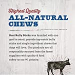 Best Bully Sticks 100% Natural Cow Hooves Dog Chews (25 Count Value Pack) - Free-Range & Grass-Fed Cattle - Long-Lasting Natural Alternative to Rawhide 15