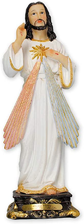 """Our Lord Jesus The Divine Mercy 8/"""" Florentine Resin Statue Religious Gift"""