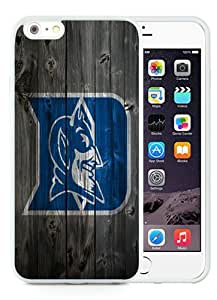 Case For iPhone 6 Plus,Duke Blue Devils Wood White iPhone 6 Plus (5.5) TPU Case Cover