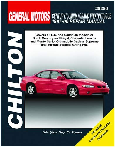 Chilton Century/Regal/Lumina/Monte Carlo/Cutlass/Grand Prix 1997-2000 Repair Manual (28380)