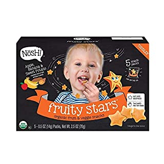 Nosh Fruity Stars Organic Fruit & Veggie Chews Toddler Snack, 5 Snack Packs, Apple, Banana & Sweet Potato