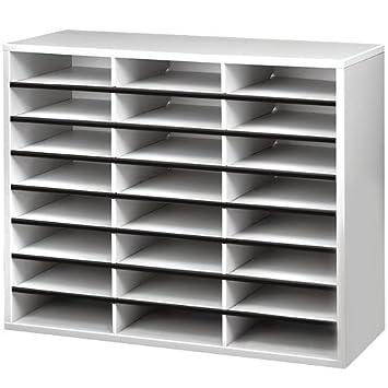 Fellowes - Mueble organizador de documentos, 24 compartimentos: Amazon.es: Oficina y papelería
