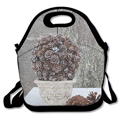 (Vioceff Pinecone Topiary Insulated Lunch Bag Lunch Tote Bag Travel School Picnic Lunch Box with Adjustable Shoulder Strap for Work Kids Women Men)