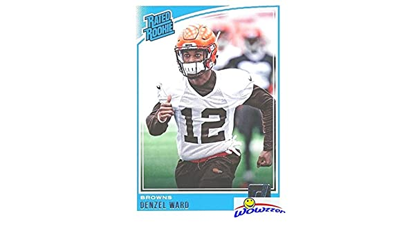 Denzel Ward 2018 Donruss Football Rated Rookie ROOKIE Card  348 in MINT  Condition! Shipped in Ultra Pro Top Loader to Protect it! Cleveland Browns  Top NFL ... 45ae6ce2a