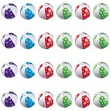 Amscan 392667 Mini Inflatable Beach Balls Party Toy Favour & Prize Giveaway (24 Pack),; 12 3/4'' x 8 3/4'', 12 3/4'' x 8 3/4'', Multi Color