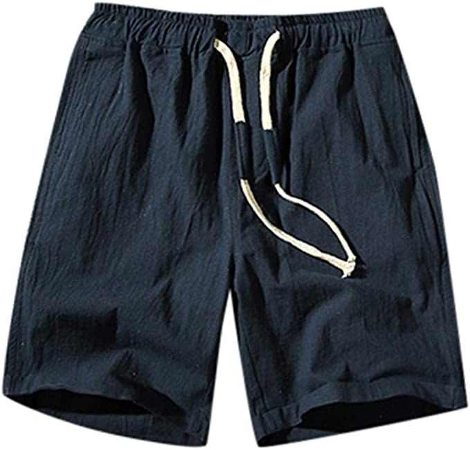 LUNULE Pantalones Cortos de algodón para Hombre, Bermudas Hombre ...