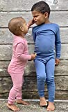 Merino Wool Kids Pajama Set. Thermal Underwear Base