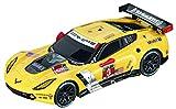 Carrera GO 64032 Chevrolet Corvette C7-R Car Slot Racing Vehicle, Yellow