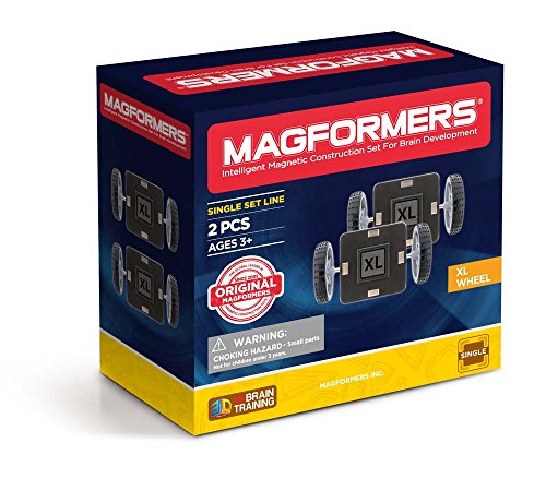 Magformers XL Single Wheel 2Pc - Wheels With Magformers