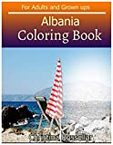 ALBANIA Coloring Book For Adults and Grown ups: ALBANIA  sketch coloring book  80 Pictures , Creativity and Mindfulness