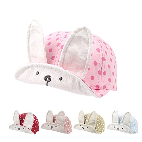 Cutegogo Rabbit Baby Baseball Cap Summer Infant Toddler Boys Cap Girls Adjustable Skull Hat Lovely Spring
