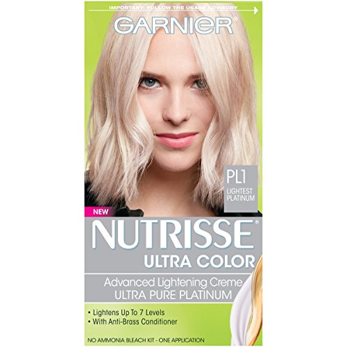 Garnier Nutrisse Ultra Color Nourishing Hair Color Creme, PL1 Ultra Pure Platinum (Packaging May Vary) by Garnier