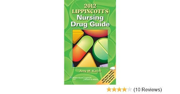 2012 lippincott's nursing drug guide: 9781609136215: medicine.