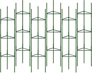 YIDIE Tomato Cage Assembled Plant Garden Stakes, for Vertical Climbing Plants,Upto 64 inches Tall Garden Plant Support(Pack of 6)