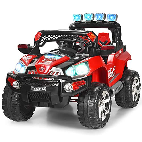 Read About Costzon Ride On Truck, 12V Battery Powered Car, Parental Remote Control & Manual Modes Ve...