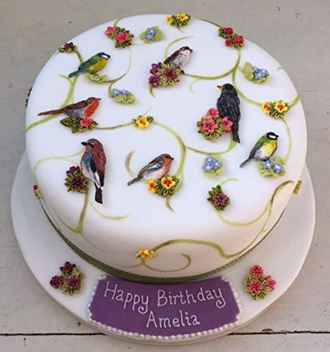 Flores y pájaros molde de silicona para decoración de pasteles, cupcakes, Sugarcraft, galletas y arcilla, alimentos seguros: Amazon.es: Hogar