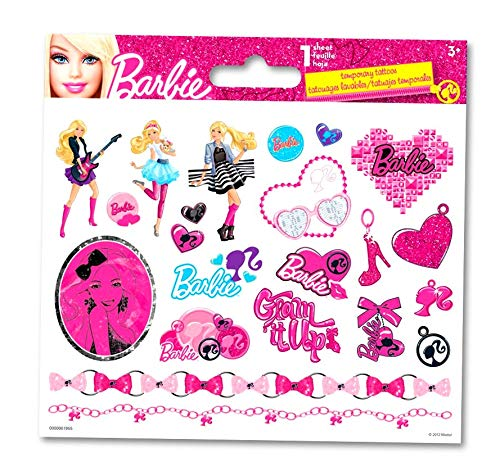 Barbie Girl Party Activities For Girls - 1 Sheet of Barbie ()