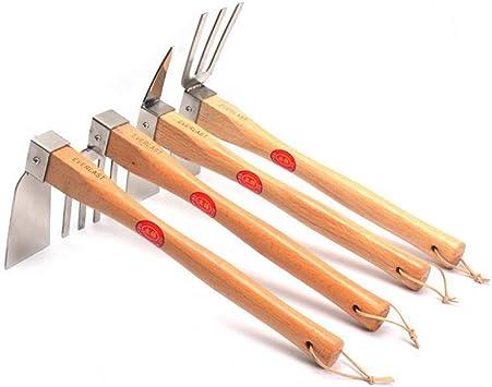 HOUYAZHAN Juego de jardín de 4 piezas con azada, escorpión, alcachofa, azada de doble uso (Color : Wooden): Amazon.es: Bricolaje y herramientas